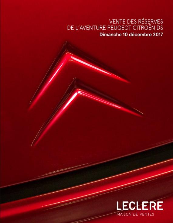 58f201f98e1ca3 De catalogus van de veiling van het Conservatoire Citroën van 10 december  staat sinds gisteren online.